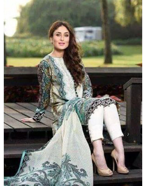 Kareena Kapoor Khan Green Lawn Suit