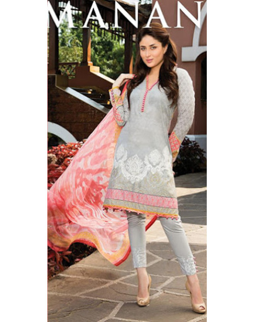 Kareena Kapoor Khan Off White Lawn Suit