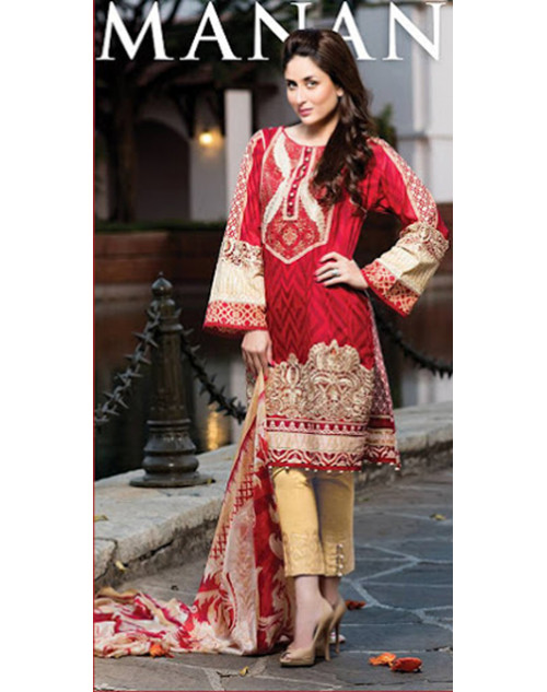 Kareena Kapoor Khan Red Lawn Suit